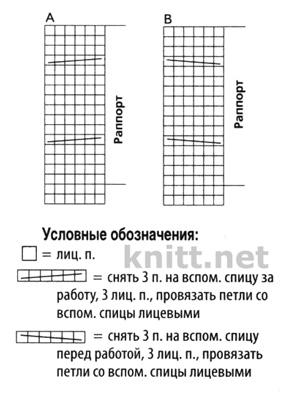 Жилет на пуговицах, схема вязания