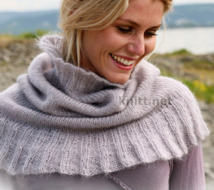 Тонкий шарф снуд или манишка
