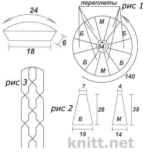 Накидка и берет (вязание из шнура)