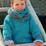 Пуловер и шарф для мальчика с жаккардовым рисунком
