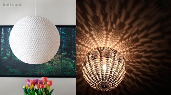 Вязаные абажуры для ламп и люстр