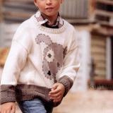 Пуловер с узором «собака»
