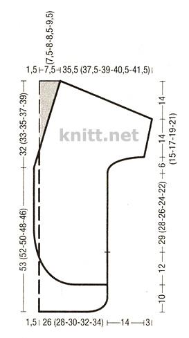 Удлиненный кардиган из тонкой пряжи, выкройка