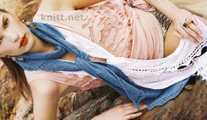 Два кружевных шарфика спицами