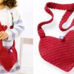 Детская сумка «Сердечко» крючком