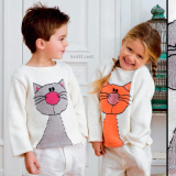 Два пуловера с кошками