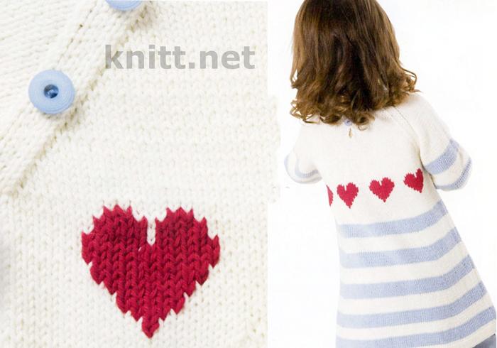 Платье для девочки с сердечками