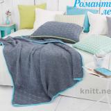 Плед и подушка спицами