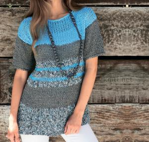 Полосатый пуловер в морском стиле