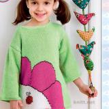 Пуловер с цветком для девочки