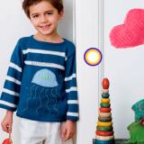 Пуловер с медузой для мальчика