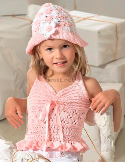 Топ и шляпка для девочки