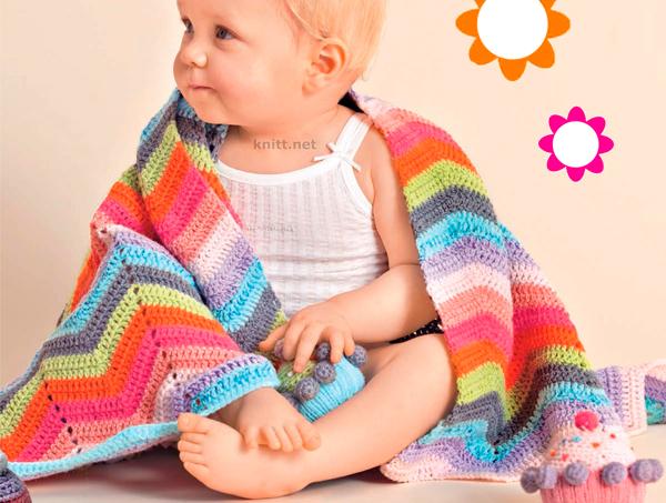 Яркий и удобный плед для малыша