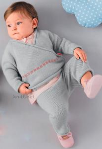 Жакет с запахом и штанишки для малыша
