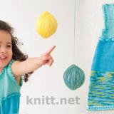 Детское летнее платье из хлопка