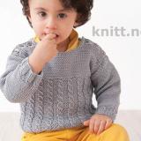 Пуловер для мальчика с косами