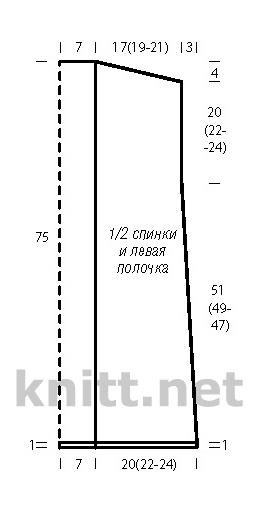 Вязаный удлиненный жилет из толстой пряжи