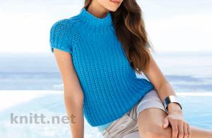 Пуловер с рукавами реглан (английская резинка)