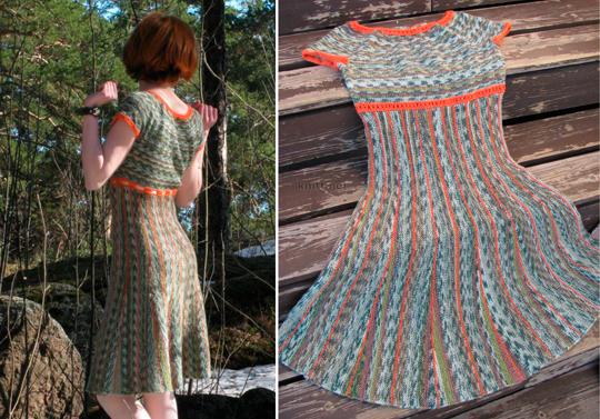 платье на круглой кокетке юбка укороченные ряды