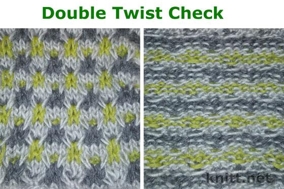 Узор спицами Double Twist Check видео