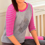 Пуловер с мотивом в виде сердечкаПуловер с мотивом в виде сердечка