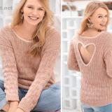 Пуловер с сердцем на спине