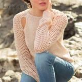 Пуловер с вырезами на регланных скосах