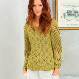 Пуловер цвета карри