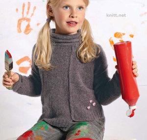 Асимметричный детский пуловер