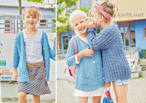 Голубой кардиган для девочки