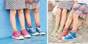 Пестрые носочки в розовых тонах