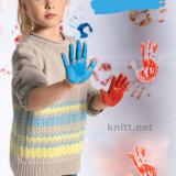 Пуловер с цветными полосками для девочки