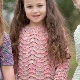 Пуловер с зигзагами для девочки