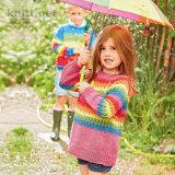 Пуловер в полоску для девочки