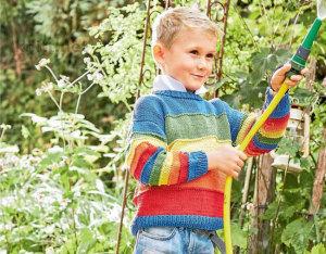 Разноцветный пуловер для мальчика