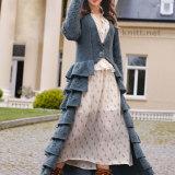 Винтажное пальто с рюшами