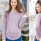 Вязаный крючком пуловер