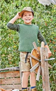 Зеленый жилет для мальчика
