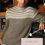 Вязаный мужской пуловер из кашемира