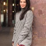 Вязаный пуловер с узором из ромбов