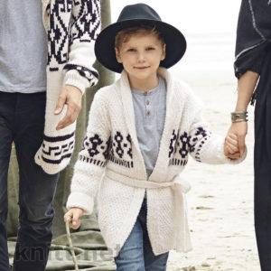 Детский кардиган с жаккардовым узором и ремешком
