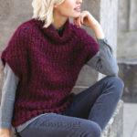 Вязаный крючком пуловер с коротким рукавом