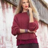 Вязание плетеного узора спицами180