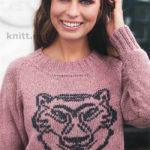Вязаный пуловер с вышивкой