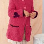 Вязаный жакет с капюшоном для девочки модницы