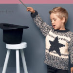 Пуловер для мальчика со звездой меланжевая пряжа
