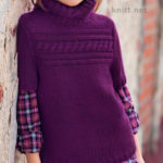 Свитер для девочки с коротким рукавом спицами
