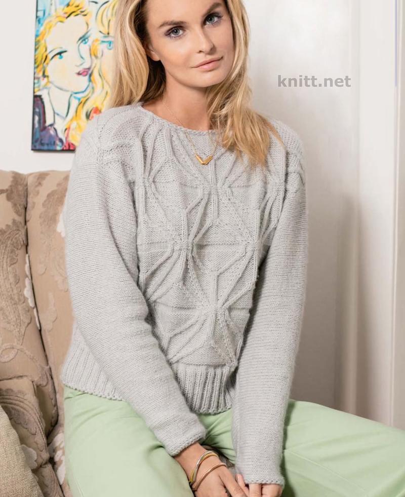 Вязаный одним полотном пуловер