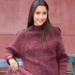 Вязаный пуловер реглан с дырочками