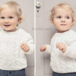 Вязаный детский пуловер из хлопка